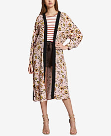 Sanctuary Calico Floral-Print Belted Kimono