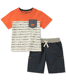 Kids Headquarters Little Boys 2-Pc. Striped Pocket T-Shirt & Shorts Set