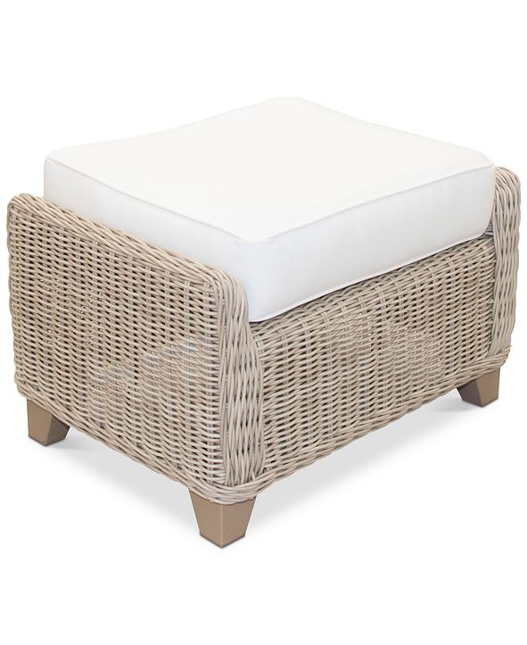 Furniture Willough Outdoor Ottoman, with Sunbrella® Cushion, Created for Macy's