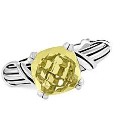 Lemon Citrine Ring (4 ct. t.w.) in Sterling Silver