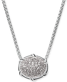 "Peter Thomas Roth White Topaz 22"" Pendant Necklace (5/8 ct. t.w.) in Sterling Silver"