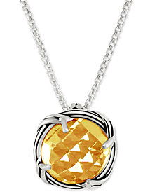Peter Thomas Roth Citrine Adjustable Pendant Necklace (4 ct. t.w.) in Sterling Silver