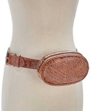 STUDDED CHEVRON-QUILTED FANNY PACK