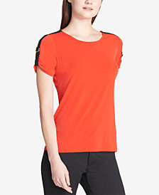 Calvin Klein Buckle-Trim Top