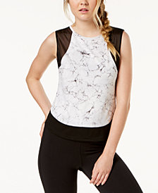 Material Girl Active Juniors' Illusion Printed Tank Top, Created for Macy's