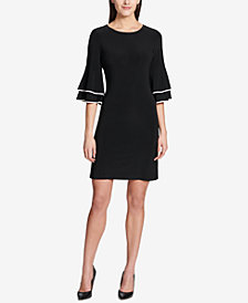 Tommy Hilfiger Bell-Sleeve Matte Jersey Dress