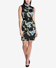 Tommy Hilfiger Oleander Belted Scuba Dress