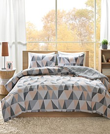 Ellie Reversible 3-Pc. Full/Queen Comforter Set