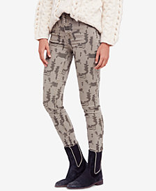Free People Printed High-Rise Long and Lean Jeggings