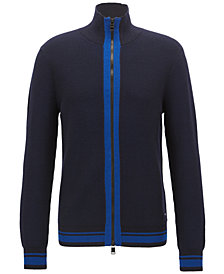 BOSS Men's Full-Zip Wool Jacket