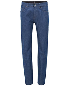 BOSS Men's Slim-Fit Stonewashed Stretch Denim Jeans