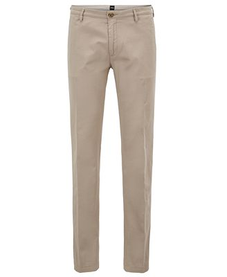 Extra-slim-fit cotton-blend trousers with zipped legs HUGO BOSS