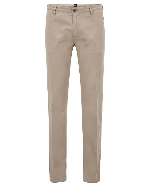 Extra-slim-fit cotton-blend trousers with zipped legs HUGO BOSS xHJkg