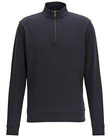 BOSS Men's Cotton Birdseye Half-Zip Sweatshirt