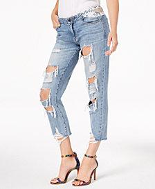 GUESS Bandana Cotton Ripped Appliqué Jeans