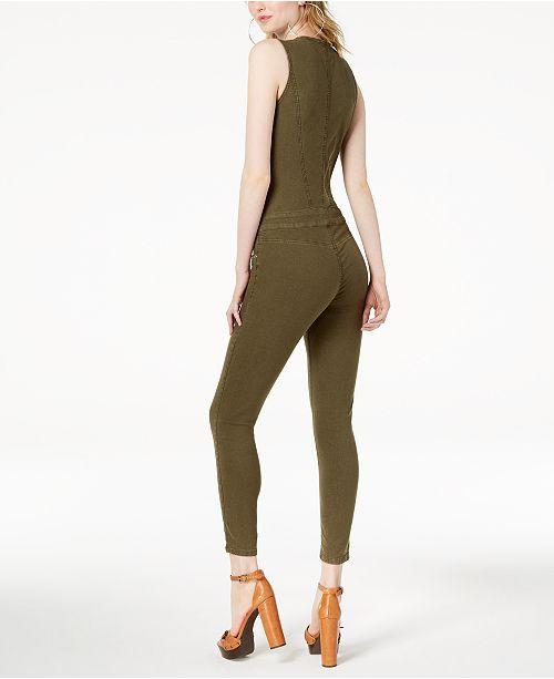 e54220c1736c GUESS Cara Zippered Jumpsuit   Reviews - Leggings   Pants - Juniors ...