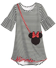Disney Little Girls Striped Minnie Mouse Purse Dress