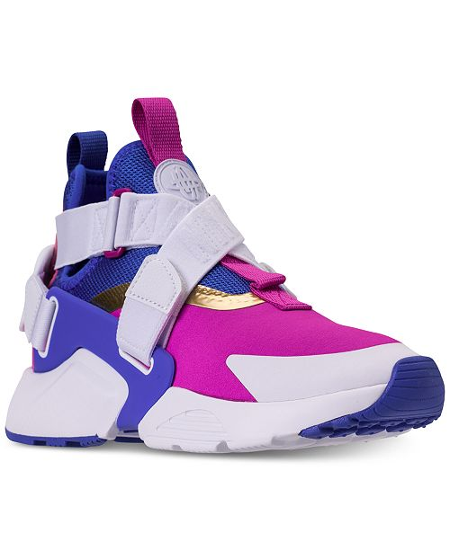 53e4531af7a4 Nike Boys  Air Huarache City Casual Sneakers from Finish Line ...