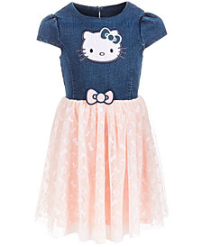Hello Kitty Little Girls Denim Tutu Dress