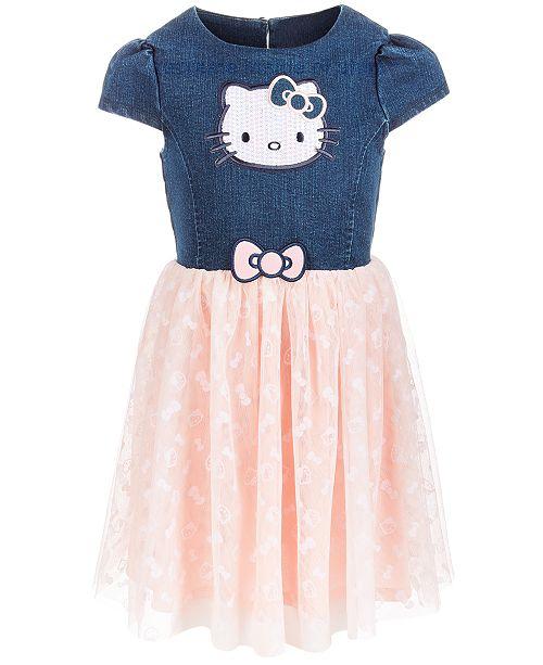 dd81db03f2 Hello Kitty Toddler Girls Denim Tutu Dress & Reviews - Dresses - Kids ...