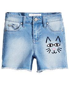 Celebrity Pink Big Girls Embroidered Denim Shorts