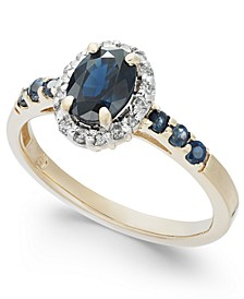 Sapphire (1-3/8 ct. t.w.) & Diamond (1/6 ct. t.w.) Ring in 14k Gold