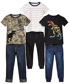 Epic Threads Little Boys Graphic-Print T-Shirts & Pants Separates, Created for Macy's
