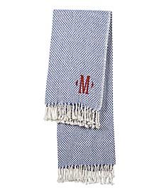 "Personalized Blue Herringbone 50"" x 60"" Throw"
