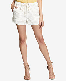 Sanctuary Trooper Linen Camouflage Pull-On Shorts