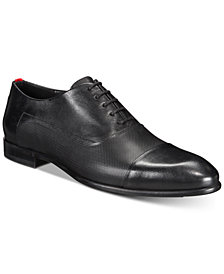 HUGO Men's Dress Appeal Cap-Toe Textured Oxfords