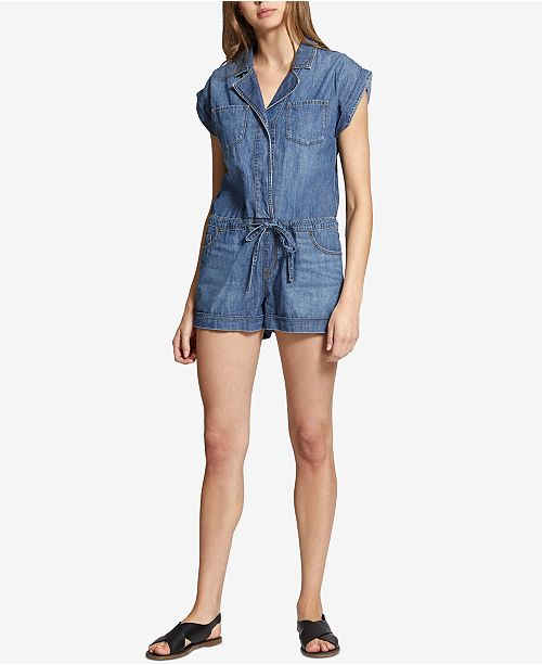 1f439d47e69c Sanctuary Scout Cotton Denim Romper   Reviews - Dresses - Juniors ...
