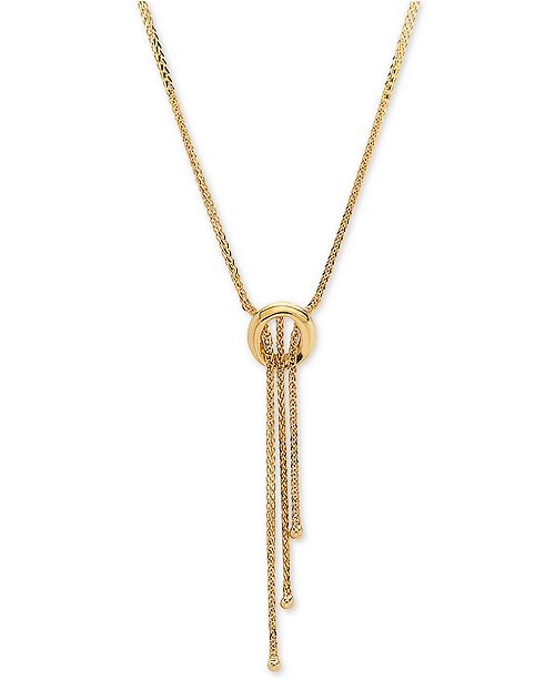 "Macy's Open Ring 17"" Lariat Necklace in 14k Gold"