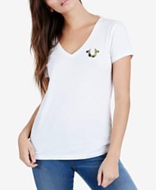True Religion Cotton Camouflage-Logo T-Shirt