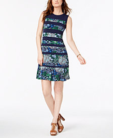 MICHAEL Michael Kors Paisley-Print Dress In Regular & Petite Sizes