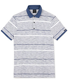 A|X Armani Exchange Men's Yarn-Dyed Striped Polo