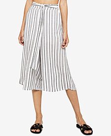 BCBGeneration Striped Tie-Front Gaucho Pants