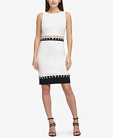 DKNY Stitched Grommet Scuba Dress, Created for Macy's