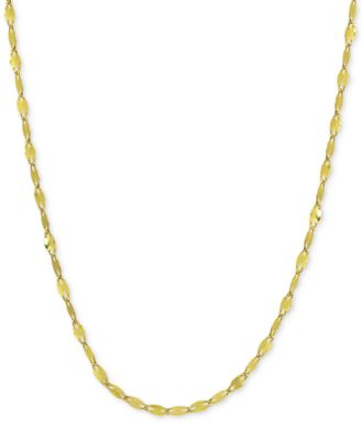 "Twisted 20"" Chain Link Necklace in 18k Gold-Plated Sterling Silver, Created for Macy's"