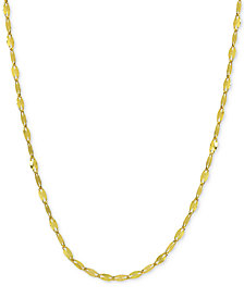 """Giani Bernini Twisted 20"""" Chain Link Necklace in 18k Gold-Plated Sterling Silver, Created for Macy's"""