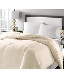 Luxury Damask Stripe Full/Queen Feather & Down Comforter