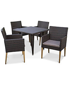 Ventura 5-Pc. Outdoor Dining Set, Quick Ship