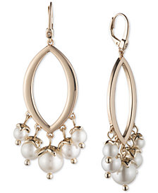 Ivanka Trump Gold-Tone Imitation Pearl Chandelier Earrings
