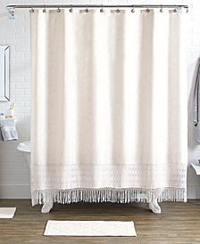 LAST ACT! Idea Nuova Pure Bath 15-Pc. Shower Curtain, Hooks & Rugs Set