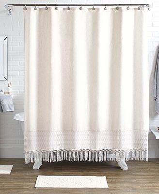 Idea Nuova Last Act Pure Bath 15 Pc Shower Curtain Hooks Rugs