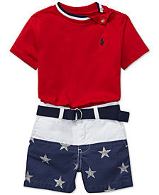 Polo Ralph Lauren Baby Boys Cotton T-Shirt & Shorts Set