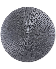 Zuo Round Wave Dark Gray Medium Plaque