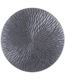 Zuo Round Wave Dark Gray Small Plaque
