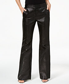 Zoe by Rachel Zoe Shimmer Tuxedo-Stripe Pants, Created For Macy's
