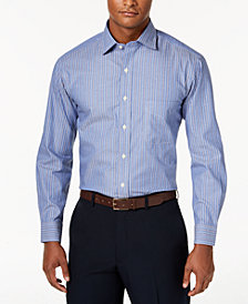 Club Room Men's Slim-Fit Stripe Performance Dress Shirt, Created for Macy's