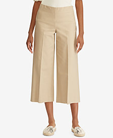 Lauren Ralph Lauren Wide-Leg Stretch Pants
